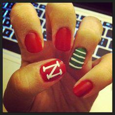 Nebraska game day nails!!! GO BIG RED!!