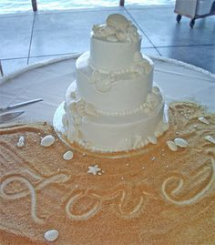 Indian Weddings Inspirations. Ocean theme Wedding Cake. Love the brown sugar sand! Repinned by #indianweddingsmag indianweddingsmag.com