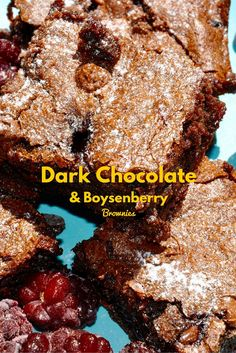 This chocolate brownie is rich and decadent, with dark chocolate and sweet boysenberries. Try this with some vanilla ice cream for the perfect dessert!
