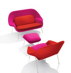 Eero Saarinen's Womb Settee and Womb Chair | PC: Knoll | Knoll Inspiration