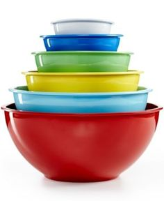 Martha Stewart Collection Set of 6 Melamine Mixing Bowls, Only at Macy's - Multi