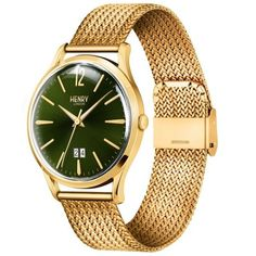 Henry London Mens Chiswick Moss Hamilton Gold Plated Bracelet Watch for sale online Gold Plated Bracelets, Watch Sale, Gold Watch, Bracelet Watch, London, Watches, Ebay, Men, Accessories