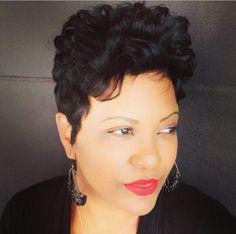 The BEST short hair in Atlanta! Visit Like The River Salon in Inman Park! Short Sassy Hair, Short Hair Cuts, Short Hair Styles, Pixie Cuts, Short Pixie, Cool Short Hairstyles, Creative Hairstyles, Dreadlocks, Short Hair