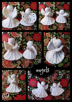 Crochet your personal Christmas Angel or Angel Decoration with this free crochet sample by Oombawka Design. This free-standing angel doesn't require stiffening or blocking - is crocheted with medium weight yarn - particularly Pink Crochet Christmas Decorations, Christmas Tree Pattern, Crochet Christmas Ornaments, Crochet Decoration, Holiday Crochet, Crochet Snowflakes, Christmas Knitting, Christmas Angels, Christmas Christmas