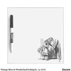 Vintage Alice in Wonderland looking for the door Dry Erase Whiteboards