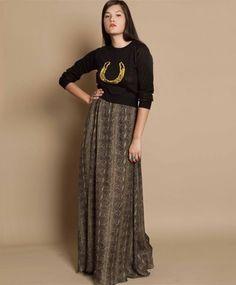 snake maxi skirt / just the skirt