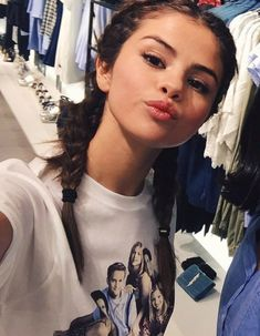 Selena wearing a F. R. I. E. N. D. S t-shirt is everything
