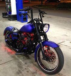 Harley dyna in blue #harleydavidsondyna