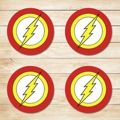 Are you planning a Flash Superhero party? Then look no further than this fantastic The Flash Logo 3.5 inch Round Designs to help make your party dreams come true! ----------------------- Item Description ----------------------- * This item a printable design, so nothing physical
