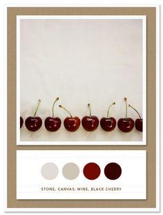 Color Card 021: Stone, Canvas, Wine, Black Cherry