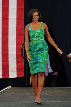 Michelle Obama 2012 Campaign Trail Fashion: A Look Back (PHOTOS)