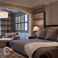 Bedroom Colors, blue/grey, tan and yellow/gold
