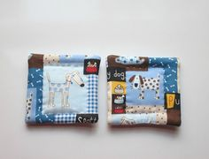 blue dogs refrigerator magnets set of 2 by KjsKwilting on Etsy