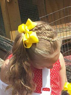 3 dutch braids into a side pony ♡