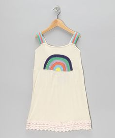 Take a look at this White Rainbow Arc Dress - Toddler & Girls by Blue Sky on #zulily today!