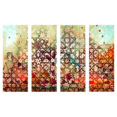Equally at home in an artful collage or on its own as an eye-catching focal point, this eye-catching canvas print showcases an abstract motif. ...