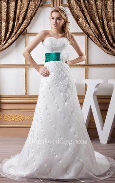 #Valentines #AdoreWe #Dorris Wedding - #Dorris Wedding Sweetheart Floor-Length A-Line Beaded Top and Gown With Flower - AdoreWe.com