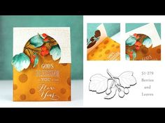 Window with Creative Dies - YouTube [click to see more of her card recipe from You-tube]