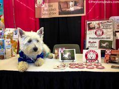 Preston's Expo booth 2014 Dallas Pet Expo Amazing Pet Expos Coverage of from their Online Ambassador - Preston from PrestonSpeaks.com. #dog #westie #westhighlandwhiteterrier #amazingpetexpo