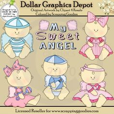 Angel Babies - Alice Smith Clip Art - Dollar Graphics Depot: Quality Graphics, Printable Crafts, Scrapbooking, Cutting Files, Digital Stamps, and More - $1.00