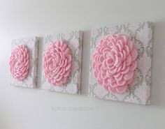 Make your walls pop with these gorgeous 3D Floral Wall hangings!  Perfect for a baby nursery or girls bedroom. Decor that will impress wherever you