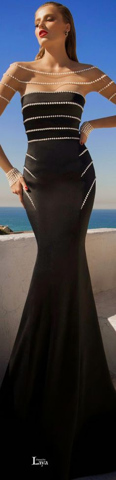 GALIA LAHAV Evening MoonStruck Gown in black with breathtakingly stylish pearl construction, absolute glamour. Follow RUSHWORLD! We're on the hunt for everything you'll love! Enjoy RUSHWORLD boards, UNPREDICTABLE WOMEN HAUTE COUTURE, WEDDING GOWN HOUND and LULU'S FUNHOUSE. #GaliaLahav #LittleBlackDress #UnpredictableWomenHauteCouture
