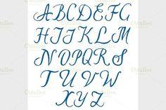 Hand drawn alphabet. Script Fonts
