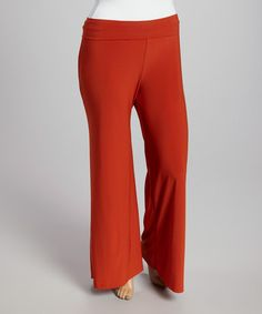 Love this Orange Palazzo Pants - Plus by Yummy on #zulily! #zulilyfinds