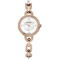Swarovski Aila White Rose Gold Tone Bracelet Watch White Rose gold-plated