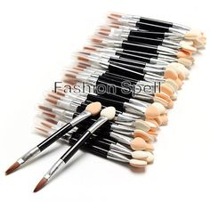 50 Pcs Disposable Sponge Eye Shadow Lip Brushes Applicator Set via Fashion Spell. Click on the image to see more!