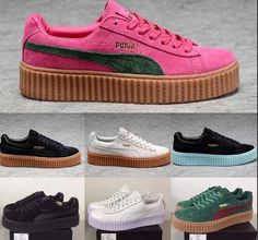 ******PRE ORDERS ONLY***** Shipping: After pre order shipping takes business days ~Only a few left Sizes: Rihanna Fenty Puma Creepers, Peep Toe, Courses, Platform Sneakers, Swagg, Girls Shoes, Adidas Women, Sneakers Fashion, Me Too Shoes