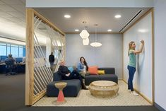 100 Best Design Warehouse Office Workspace - Page 57 of 100 Creative Office Space, Office Space Design, Modern Office Design, Workspace Design, Office Workspace, Office Interior Design, Office Designs, Office Decor, Open Space Office