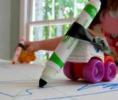 drawing with toy cars. (Link doesn't work, pinned it just for the idea) (Transportation-theme) Motor Activities, Infant Activities, Activities For Kids, Classroom Crafts, Classroom Activities, Preschool Learning, Preschool Crafts, Transportation Theme Preschool, Toddler Classroom