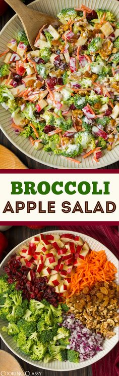 Broccoli Apple Salad | summer veggies | recipes | pinned by Riverside Farm, North Berwick, ME