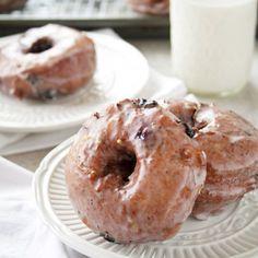 Blueberry Donuts with a Lemon Glaze
