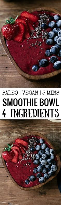 This fresh and vibrant smoothie bowl is dairy free, vegan, and paleo. Made with fresh seasonal blackberries and three other simple…