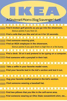A Cincinnati Moms Blog scavenger hunt to IKEA.