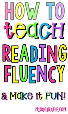 Reading fluency first grade activities and ideas for helping kids learn how to read in kindergarten and building the skills necessary to achieve mastery Learn To Read Kindergarten, Teaching Child To Read, Kindergarten Reading, Kids Reading, Teaching Reading, Teaching Tips, Guided Reading, How To Teach Reading, Kindergarten Blogs