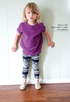 The Alison Show: Sweatshirt t-shirt for kids tutorial