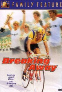 Breaking Away  Dennis Christopher, Dennis Quaid, Daniel Stern   Abot Bloomington, Indiana and the Little Indie 500 bike amateur bike race held at Indiana University every Spring.