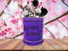 Wizard Wands, Glitter Makeup Brush Holder, Harry Potter Makeup Brush Holder, Harry Potter Wizard Wands, Hogwarts Wizard Wands, Harry Potter