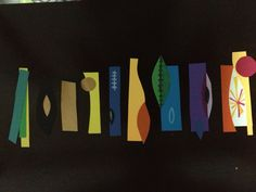 Paper garland for its a small world party- based on Mary Blair endpapers