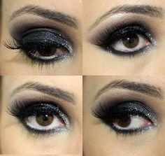 Tutorial de maquiagem black para festa, lindo e fácil de fazer.