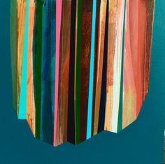 'Chamber (2)' by Mark Jessett, 2017, acrylic on paper over board www.markjessett.com #abstractpainting #contemporaryabstractart