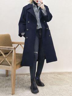Korean Street Fashion, Korea Fashion, Asian Fashion, New Fashion, Girl Fashion, Fashion Outfits, Korea Winter Fashion, Womens Fashion, Fashion Design