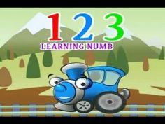 Learning english for kids. Learning Number's 1-10.Изучение английского языка. Английский язык для маленьких. 學習數字. Abc Cartoon Train. 学習番号