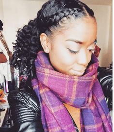 Super Defined Twist Out and Braid IG:@_alleysinai  #naturalhairmag
