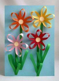 carterie, pergamano et tableaux - Page 13 Paper flowers Craft Activities, Preschool Crafts, Easter Crafts, Kids Crafts, Diy And Crafts, Spring Crafts For Kids, Summer Crafts, Art For Kids, Mothers Day Crafts