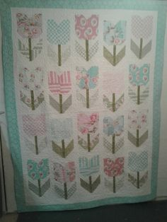 Big girl quilt for my granddaughter Mira. Quilt Material, Girls Quilts, Quilting Patterns, Blanket, Sewing, Big, Dressmaking, Couture, Quilt Designs
