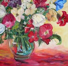 Floral by Kay Wyne, painting by artist Kay Wyne